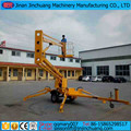 Articulated towable boom lift trailer mounted cherry picker man lift for sale