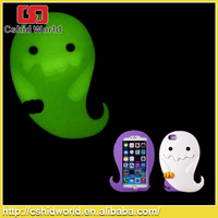 Halloween Day Luminous Silicon Ghost for silicone iphone 6 case