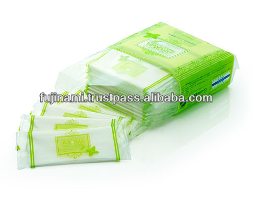 AROMA PAPER TOWEL wet paper towels with scent made in Japan a selection of 3 aroma
