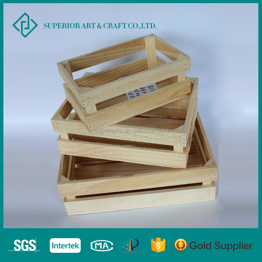 Customized Small Wooden Storage Crates For Packing