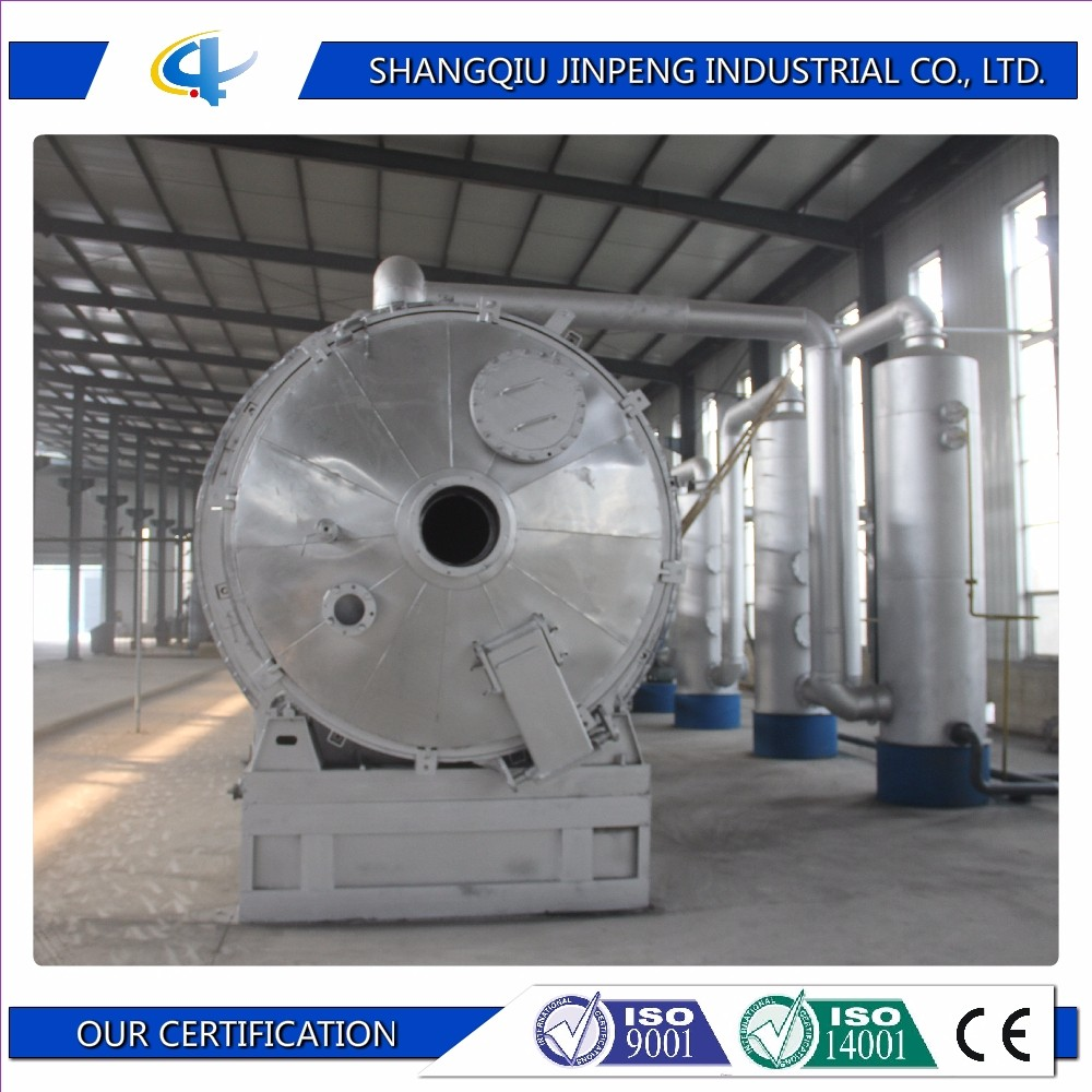 10 Tons Best Selling Used Waste Tyre and Plastic Pyrolysis Recycling Plant to Oil Machine