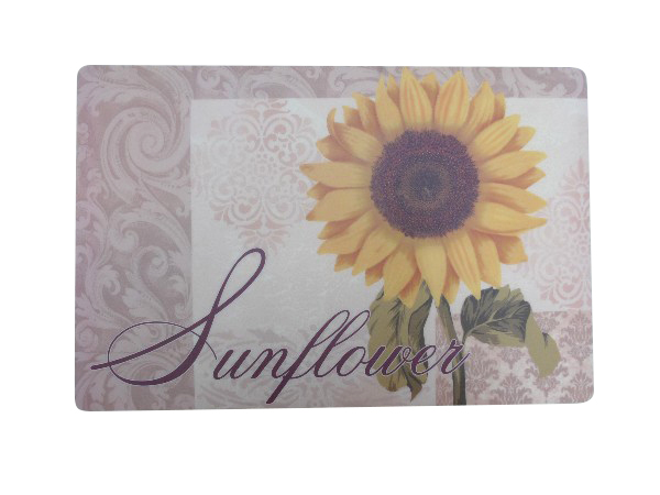 Attractive design Rectangular Elegant Printed Sunflower Placemat