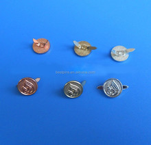 metal brand logo for shoe charms with buckle for decoration