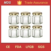 Best price marmelade 30ml glass hexagonal jar round
