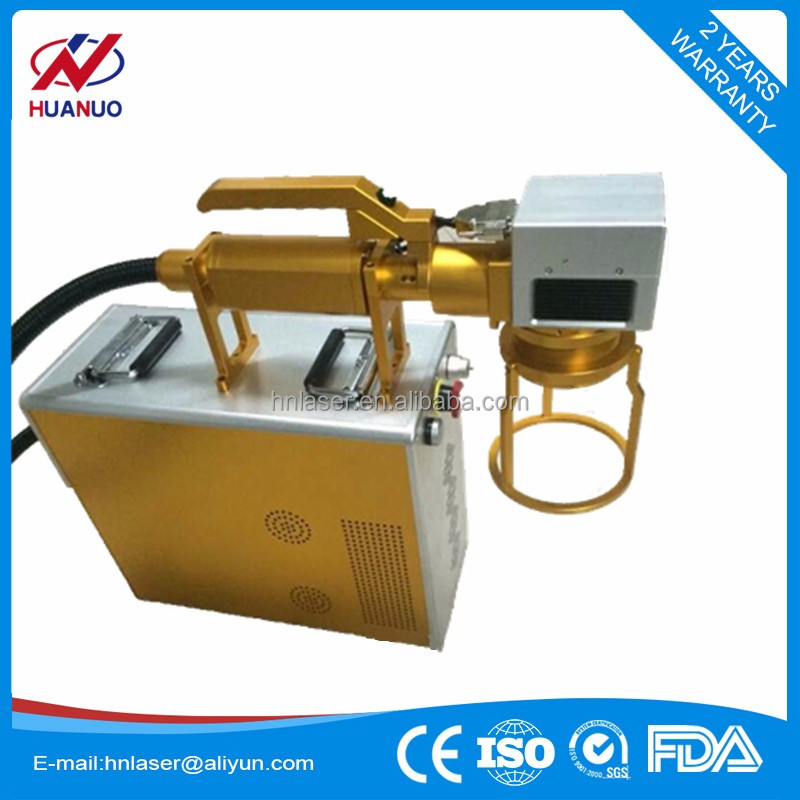 Hand-held 20W 30W fiber metal laser marking engraving printing machine with CE ISO Certificate