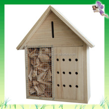 New Eco-friendly Garden Supplies Natural Wood Insect House For Butterfly Lacewing Ladybird