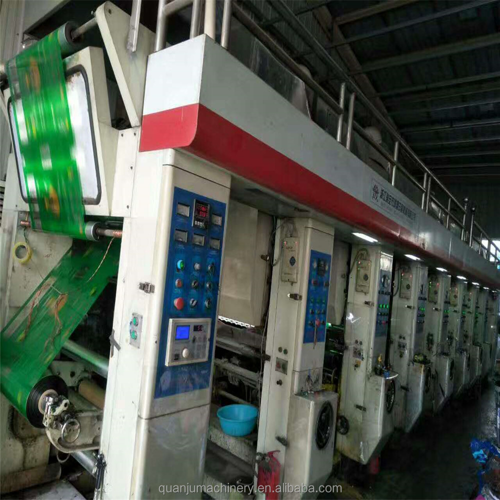 1-7 color Used Rotogravure print press with 850mm width for sell