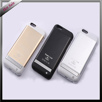 3800 mAh metal battery backup phone case Power Bank for iphone 6