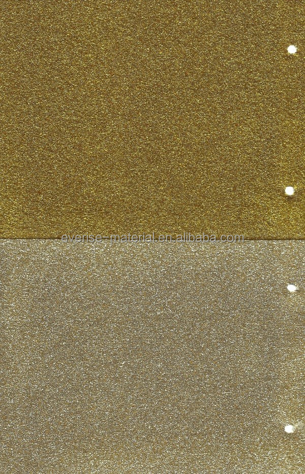 Golden Glitter Leather Fabric For Making Shoes/Bags/Phone Case
