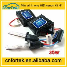 New products for car all in one mini kit HID xenon headlight H1 35W 4300K 18 months warranty