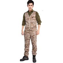 Wholesale camouflage men's airsoft combat uniform CP vest and pants mlitary