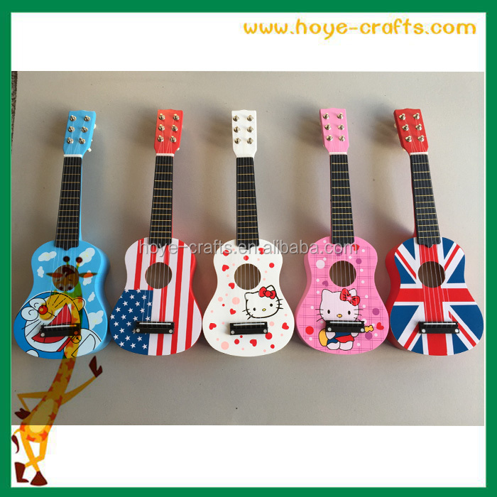 "Alibaba wholesale 21"" small kids guitar 6 string hello kitty wooden kids guitar"