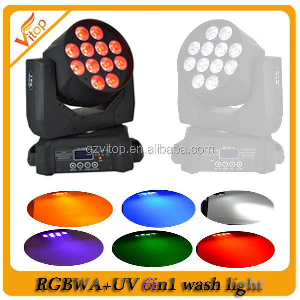 HOT 12*10w RGBWA+UV led moving head wash,led moving head beam,led stage lighting