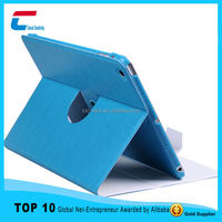 Fashion design slim ultrathin rotate PU leaher case for ipad 2, best seller leather case for ipad 2 with multi color
