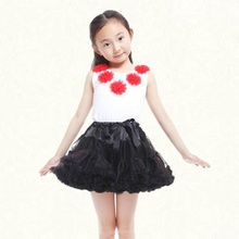 Summer floral ballet prom dresses children puffy wedding ruffle skirt tutu dress for girls kids lace boutique stage girl skirt