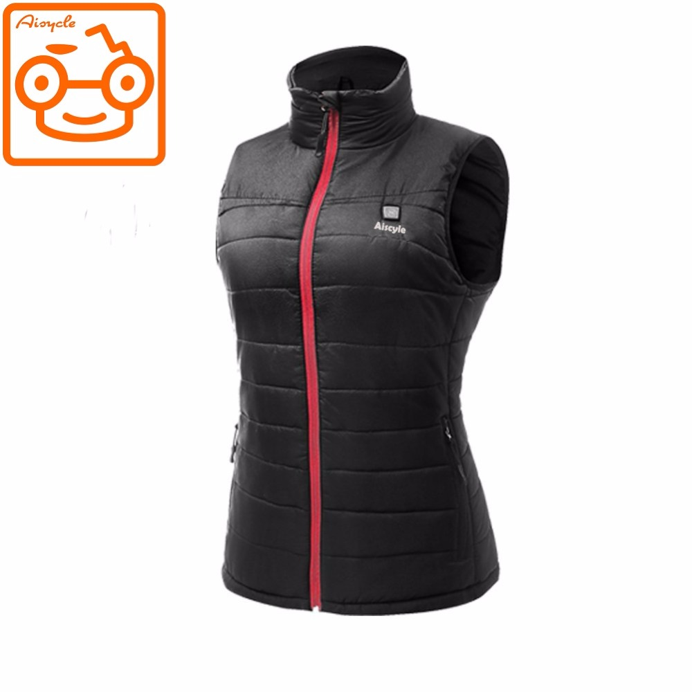 Best Electric Heated Vest Warm Women's Battery Powered Heated Vest WIth Fleece Liner For Motorcycle Ski