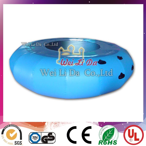 Interesting lake sport games jumping inflatable water trampoline