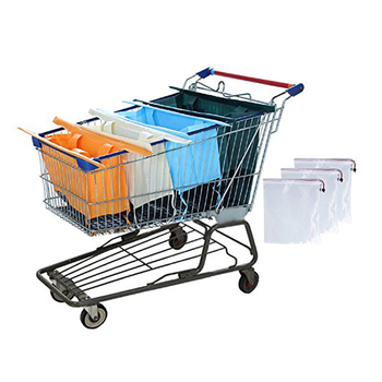 Foldable shopping trolley bags reusable grocery shopping cart bag