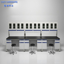 CE Proved Laboratory Furniture Wall Bench with Epoxy Resin Top