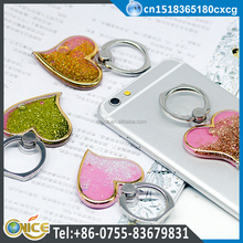 Portable universal mobile phone accessories metal heart ring designs cell phone holder