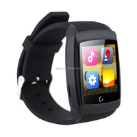 2016 cheapest Bluetooth u18 smart watch phone WIFI+GPS 128*128 oled color screen bar black white silver smart watch sim card