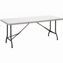 6' blow mold folding table for garden party garden party plastic folding table