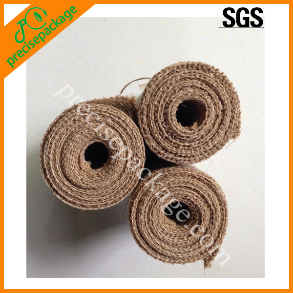 Eco friendly decorative jute fabric roll