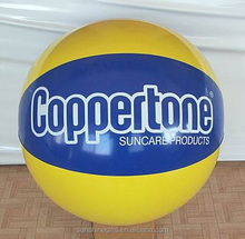Wholesale factory price pvc plastic custom sized summer funny toys inflatable beach ball for children & adult