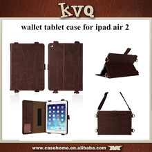For apple ipad air 2 case,for apple ipad 6 leather case,wallet tablet case for apple ipad air 2