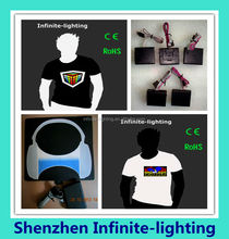 New Batman Design Wireless El Panel El T-shirt/EL Equalizer LED T-Shirt For Children