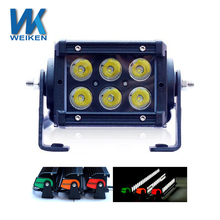 Dual row 18w IP68 aluminum housing colorful covers off road Jeep SUV ATV led light bars