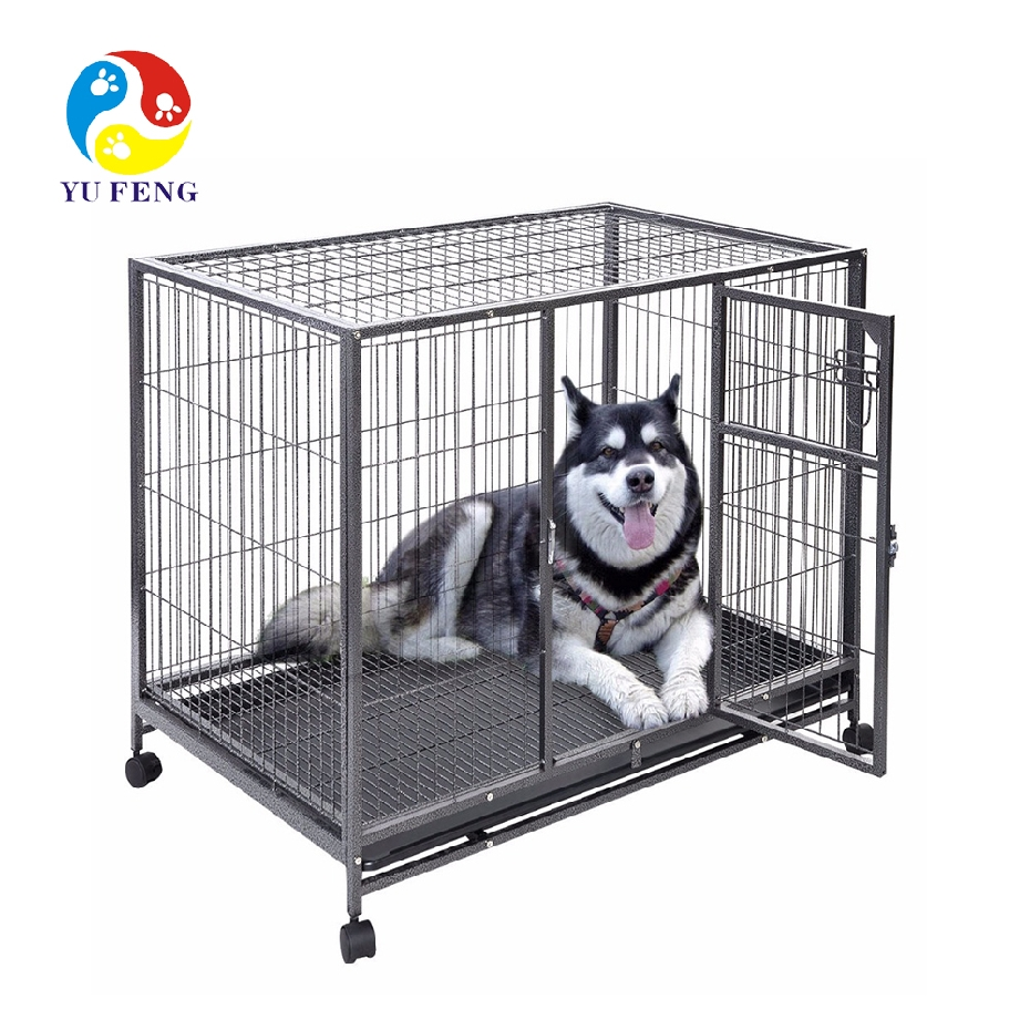 Hot sale on Amazon stainless folding metal dog crate