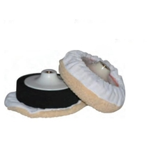 150mm synthetic wool tied up bonnet pad for car polishing