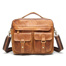 ZW239 men's ethiopian Crazy horse leather camera shoulder bag and handbag
