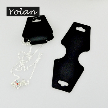 professional wholesale black card custom printed folded necklace hanging card