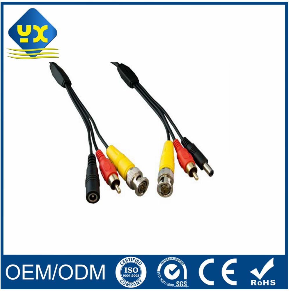 OEM Cable DC+BNC(Video)+RCA(Audio) BNC CCTV Adapter Cable 15CM