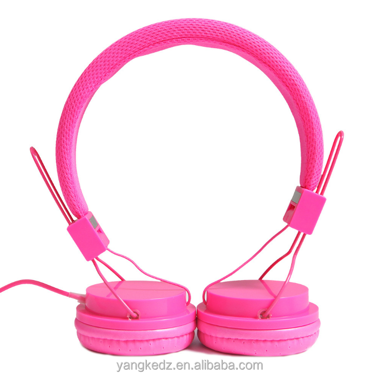 candy color computer headphone with microphone for children