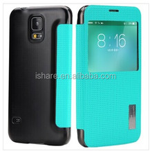 Rock window view Smart Cover PU Leather Case For Galaxy S5