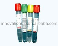 red cap blood test tube