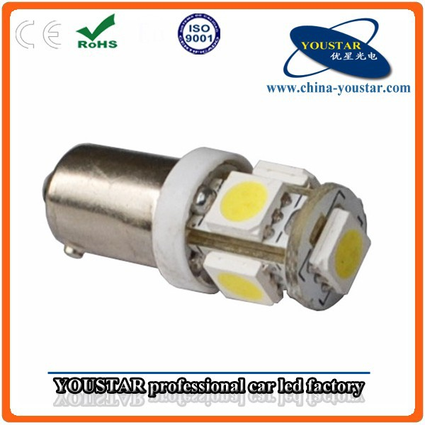 New BA9S Auto Bulb 5SMD 5050 LED Chip White Ba9s Socket