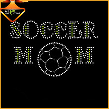 Bling Soccer Mom Custom Rhinestone Heat Transfers For Garment