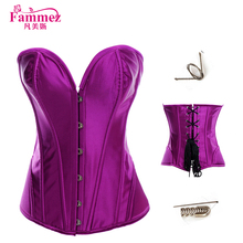 2017 new designs 830 purple corset sexy waist trainer corset body shapers for women