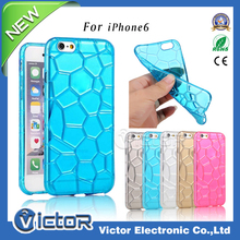 3D slim water cube colorful TPU cellphone accessory back cover case for Apple iphone6S
