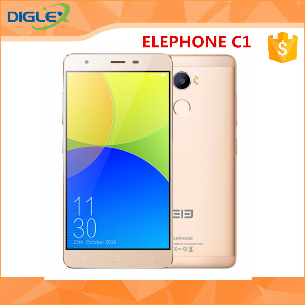 "2016 new arrival Elephone C1 Android 6.0 MTK6737 Quad Core Cellphone 5.5"" 1280x720 FHD Screen Smartphone"