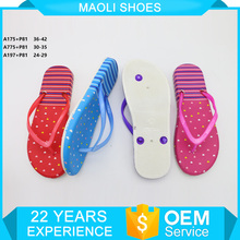 latest Cheap price wholesale flip flops strap pvc slipper for women