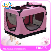 Soft Sided Pet Carrier Folding Portable Crate carrier Kennel Pet Travel Bag Cage