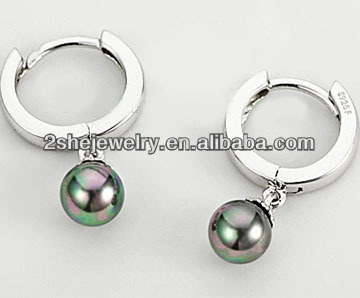 China Wholesale Elegant 925 silver earring with pearl