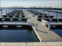 PE shell EPS foam filled floating drum pontoon dock
