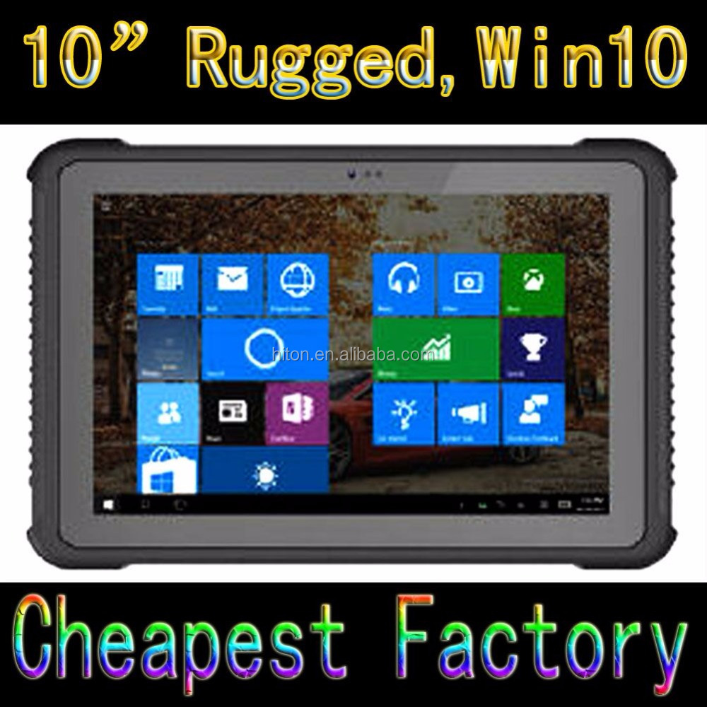 NEW 10 Inch Rugged Tablet with Intel Quad core 3G GPS 2Gram DDR + 32G EMMC NFC RFID Industrial Rugged Tablet with 2D Barcode