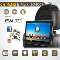 10.1 inch tablet Android 4.0 OS car portable headrest PC dvd player with 3G,WIFI,hdmi input,FM Transmitter for all cars